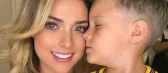 Carolina Dantas und Davi Lucca, der Sohn von Neymar