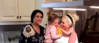 Daniela Katzenberger mit Mama Iris und Tochter Sophia beim Kochen