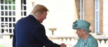 Donald Trump Königin Elisabeth II Besuch