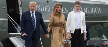 Donald, Melania und Barron Trump im August 2020