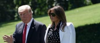 Donald Trump und Melania Trump beim Verlassen des Weißen Hauses