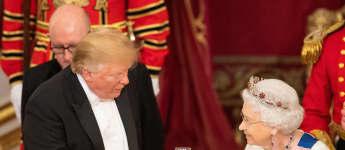Donald Trump zu Besuch bei der Queen