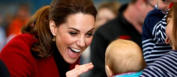 Duchess Catherine Baby Greeting Wales