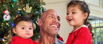 Dwayne Johnson mit seinen Töchtern Jasmine und Tiana Gia