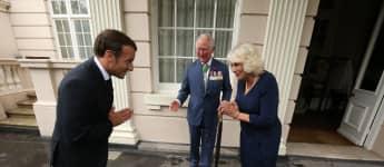Emmanuel Macron, Prinz Charles und Herzogin Camilla