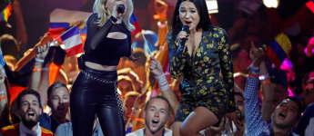 S!sters bei ihrem Auftritt beim Eurovision Song Contest
