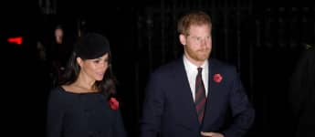 Prince Harry and Duchess Meghan attend a service marking the centenary of WW1 armistice at Westminster Abbey