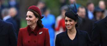 Herzogin Kate Herzogin Meghan Weihnachten Sandringham Outfits