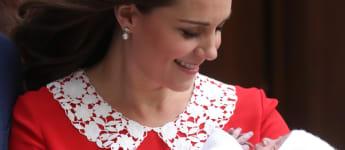 Prinz Louis und Herzogin Kate bei der Geburt