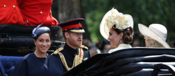 Herzogin Meghan Prinz Harry Trooping the Colour Queen Geburtstag