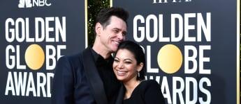 Jim Carrey und Ginger Gonzaga zeigten sich sehr verliebt bei den Golden Globes 2019