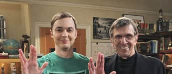 "Jim Parsons und Leonard Nimoy bei ""The Big Bang Theory"" Mr. Spock und Sheldon Cooper"