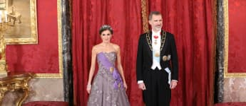 Königin Letizia und König Felipe VI. beim Galadinner