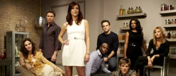 "Kate Walsh, Tim Daly, Audra McDonald, Paul Adelstein, KaDee Strickland, Chris Lowell, Taye Diggs und Amy Brenneman in ""Private Practice"""