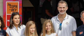 Königin Letizia, Prinzessin Leonor, Prinzessin Sofia, König Felipe spanische Royals Ferien