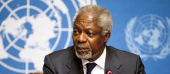 Bis zum Jahr 2006 war Kofi Annan UN-Generalsekretär