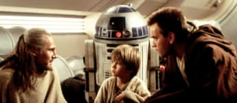 "Liam Neeson, Jake Lloyd und Ewan McGregor in ""Star Wars - Episode I"""