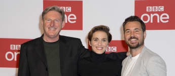 Line of Duty stars Adrian Dunbar, Vicky McClure and Martin Compston