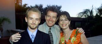 """Die """"Malcolm mittendrin""""-Stars Christopher Masterson, Bryan Cranston und Jane Kaczmarek 2001"""