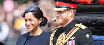 Herzogin Meghan und Prinz Harry bei der Militärparade Trooping The Colour