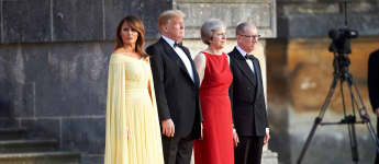 Melania Trump, Donald Trump, Theresa May und Philipp May