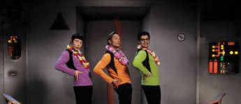 "Michael Bully Herbig, Christian Tramitz und Rick Kavanian in ""(T)Raumschiff Surprise"""