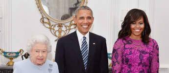 Michelle Obama Königin Elisabeth
