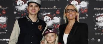 Natascha Ochsenknecht mit ihren Kindern Jimi Blue und Cheyenne im Jahr 2011