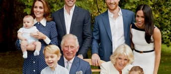Prince Charles with his children and grandchildren outside clarence house in 2018