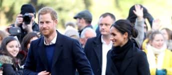 Prinz Harry und Herzogin Meghan bei ihrem Besuch des Cardiff Castle in 2018