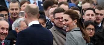 Prinz William Herzogin Kate Leicester
