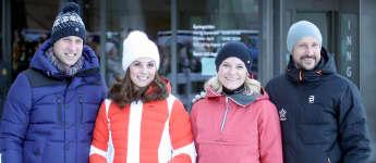 Prinz William, Herzogin Kate, Mette-Marit und Prinz Haakon in Norwegen