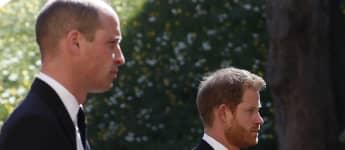 Prinz William und Prinz Harry bei Philips Beerdigung