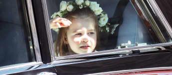 Prinzessin Charlotte bei der Hochzeit von Meghan Markle und Prinz Harry