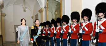 So festlich trat Prinzessin Mary von Dänemark beim Neujahrsempfang auf