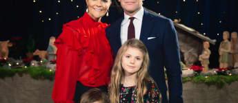Prinzessin Victoria, Prinz Daniel, Prinz Oscar und Prinzessin Estelle offizielles Weihnachtsfoto