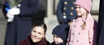 Schwedens Kronprinzessin Victoria und ihre beiden zuckersüßen Kinder Prinzessin Estelle und Prinz Oscar