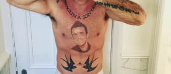 Robbie Williams, Tattoo, Robbie Williams Tattoos, Robbie Williams Körper, Tattoos der Stars
