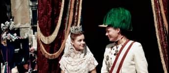 """Romy Schneider und Karlheinz Bohm aus """"Sissi"""" 1955"""