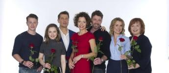 """""""Rote Rosen""""-Schauspieler (von l. nach r.): Felix Jordan, Marija Mauer, Wolfram Grandezka, Madeleine Niesche, Björn Bugri, Andrea Lüdke, Johanna Liebeneiner"""
