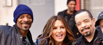 "Snoop Dogg, Mariska Hargitay and Ice-T beim Dreh einer neuen Folge ""Law & Order: Special Victims Unit"" 2019"