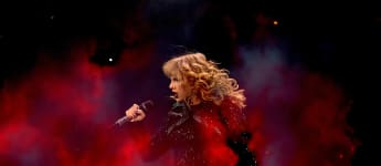 Taylor Swift auf der Bühne während der Reputation-Stadion-Tour in Texas