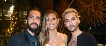 Tom Kaulitz, Heidi Klum und Bill Kaulitz bei der Emmys After Party 2017