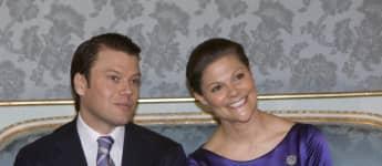 Prinz Daniel und Prinzessin Victoria bei ihrer Verlobungsbekanntgabe im Jahr 2009