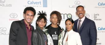 (v.r.): Trey Smith, Willow Smith, Jaden Smith, Jada Pinkett Smith und Will Smith
