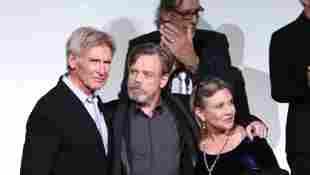 """Harrison Ford, Mark Hammil und Carrie Fisherauf der """"Star Wars: Episode VII - Das Erwachen der Macht""""-Premiere"""