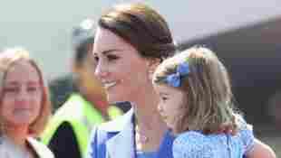 Herzogin Kate und Prinzessin Charlotte in Berlin