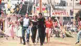 """Grease""-Stars: Lorenzo Lamas, Olivia Newton-John, John Travolta, Stockard Channing"