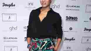 Milka Loff Fernandes bei der Thomas Rath Fashion Show