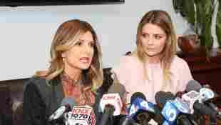 Anwältin Lisa Bloom und Mischa Barton bei der Pressekonferenz